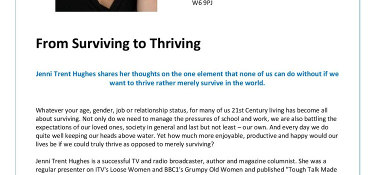 Advance Presents: From Surviving To Thriving, An Evening With Broadcaster Jenni Trent Hughes.