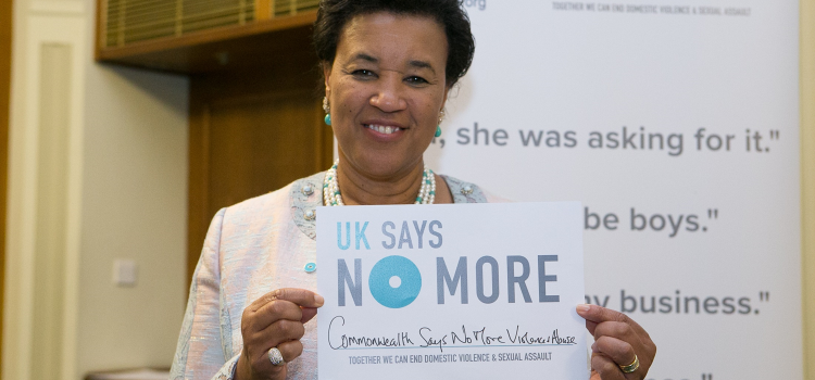 "Commonwealth Secretary General says ""NO MORE"" to Domestic Violence"