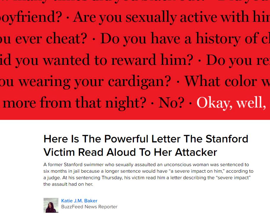 BuzzFeedNews Stanford Rape