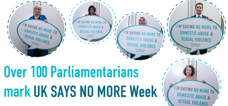 Over 100 Parliamentarians mark UK SAYS NO MORE Week