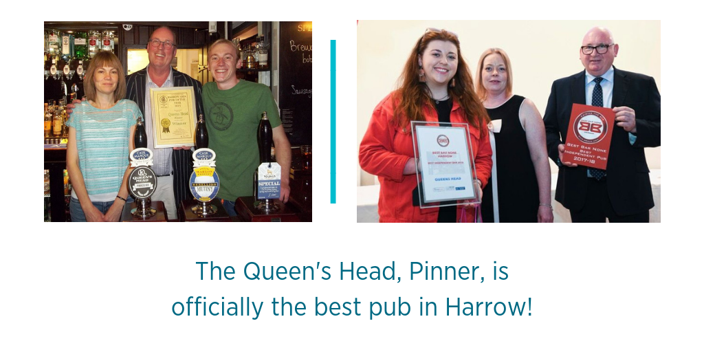 The Queen's Head, Pinner, is officially the best pub in Harrow!
