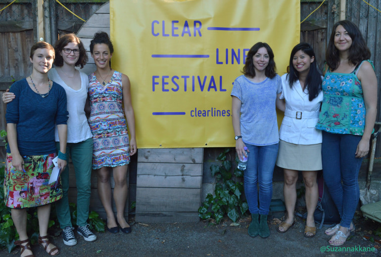 Bridget Christie and Clear lines crew