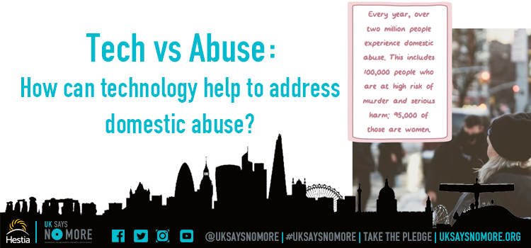 How can technology help to address domestic abuse?