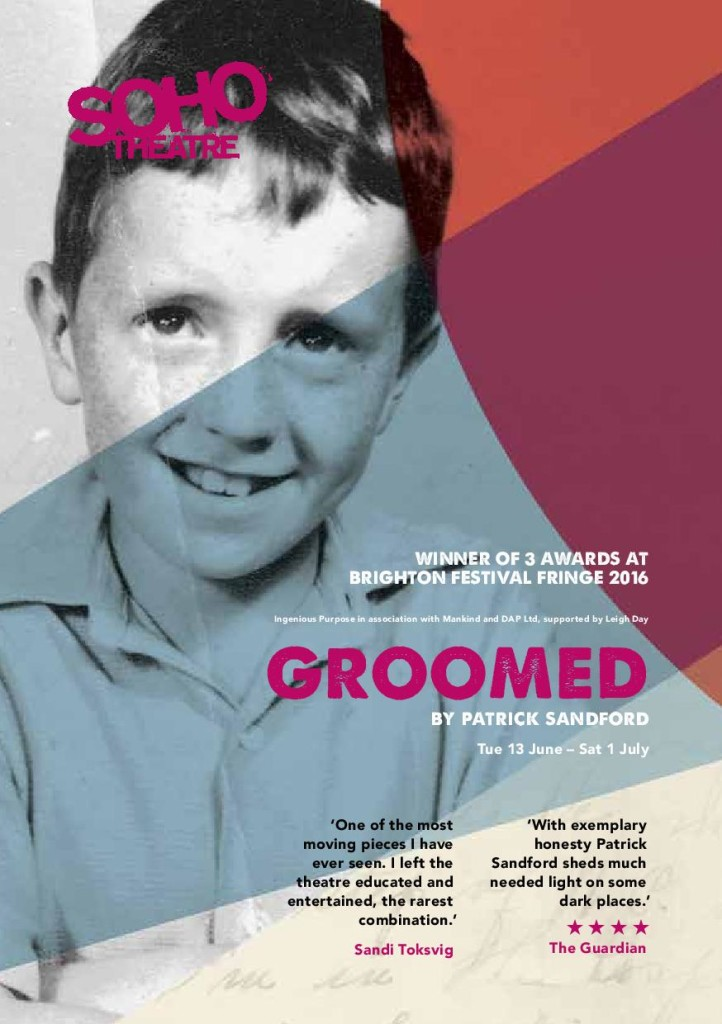 'Groomed' play explores childhood sexual abuse - at Soho Theatre