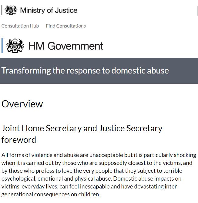 Government opens Domestic Abuse Bill consultation